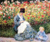 Oscar Claude Monet Madame Monet and Child. 1875 Bayan Monet ve �ocuk
